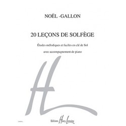 20 leçons cle sol-noel-gallon